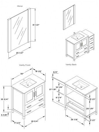 Small Vanity Dimensions Bathroom Vanity Sizes Bathroom