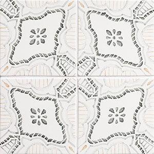 Palermo Bianco Glossy Ceramic Tiles 6x6 Country Floors Of America Llc In 2020 Ceramic Tiles Bianco Ceramics