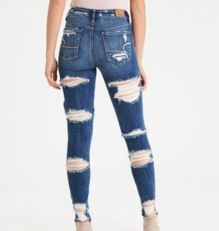 Ad 1 Ae Denim X Super Hi Rise Jegging By American Eagle Outfitters All The Way Up No Fit Hu Cute Ripped Jeans Ripped Jeans Outfit American Eagle Men Jeans