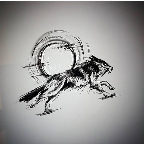 instatattoo Running wolf By...