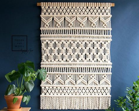 Geometric Macrame Wall Hanging Multiple colors available | Etsy