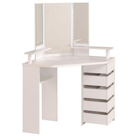 Volage Makeup Table White Walmart Com Dressing Table Mirror Corner Dressing Table Dressing Room Design