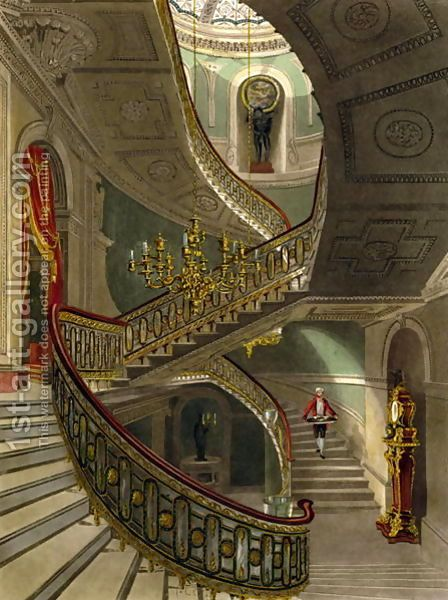 The Grand Staircase, Carlton House by R.G. Reeve