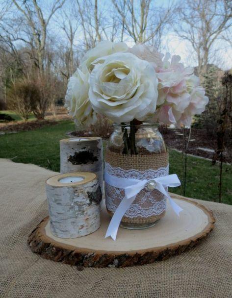 bildschöne Deko zur Hochzeit Weckgläser dekorieren Inspiration - rose aus stein deko