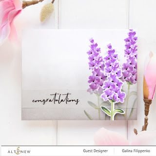 Altenew Build A Flower Lavender Release Blog Hop Giveaway Favorite Things By Galachko Altenew Altenew Cards Flower Stamp
