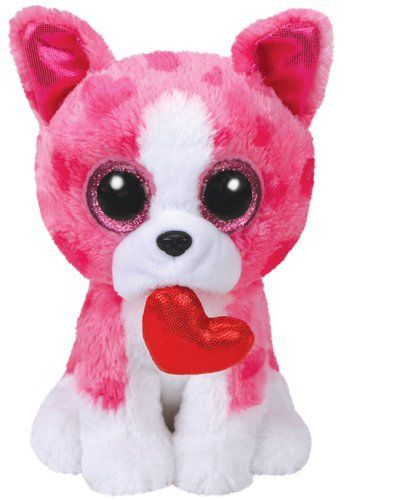 "6/"" TY Beanie Boo Sweetums Valentine Giraffe Gift Glitter Eyes Plush Stuffed Toys"