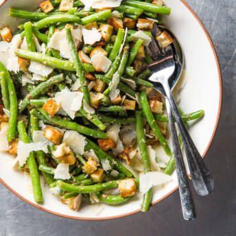 Caesar Green Bean Salad Cook S Country Recipe Cooks Country Recipes Green Bean Dishes Green Beans