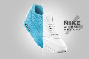 Download Nike Air Max 1 Mockup Psd Mockup Free Mockups Psd In 2020 Nike Air Max Nike Air Air Max 1