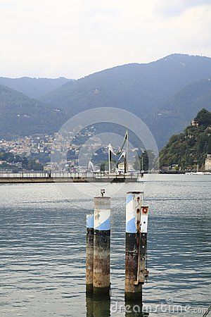 Look At Como Landing Stage Harbour With Bank Promenade In Lake Como In Italy Comer See See Italien