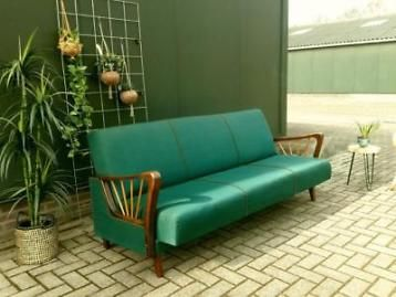 Bank Deens Design.Vintage Slaapbank Retro Sofa Bank Daybed 50 60 Deens Design