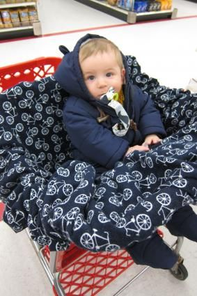DIY Baby Shopping Cart Cover | LoveToKnow