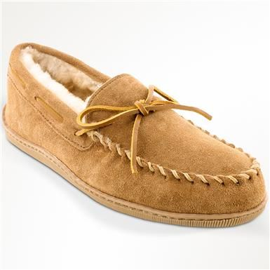available cheap prices factory outlets Minnetonka Sheepskin Hardsole Slippers - Mens | Moccasins ...