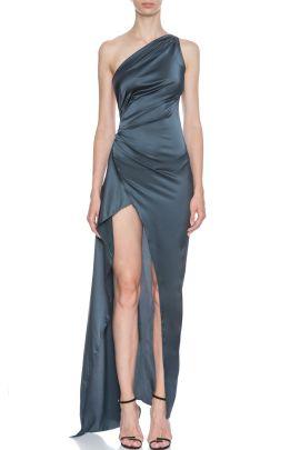 Tek Omuz Uzun Gece Elbisesi Evening Gown 2020 Uzun Elbise 90 Lar Modasi Aksam Elbiseleri