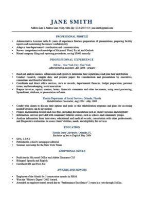 Resume Profile Resume Profile Examples Resume Profile Resume