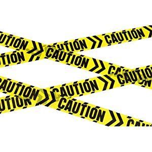 Halloween Party Prop Crime Scene Tape POLICE ZOMBIE SKELETON warning tape