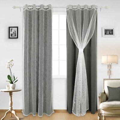 Latitude Run Analea Solid Color Blackout Thermal Grommet Curtain Panels Wayfair In 2020 Panel Curtains Grommet Curtains Contemporary Curtains