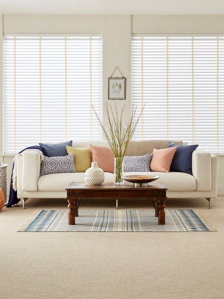 Choose The Perfect Wooden Blinds For Your Living Room Luxaflexverticalblinds Blindswoman Bambooblinds Wooden Blinds Curtains With Blinds Living Room Blinds