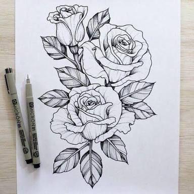 Resultado De Imagem Para Rosa Desenho Tattoo Jovens Tatuados