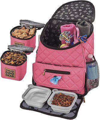 Overland Dog Gear Weekender Backpack Pet Travel Bag Pink Chewy