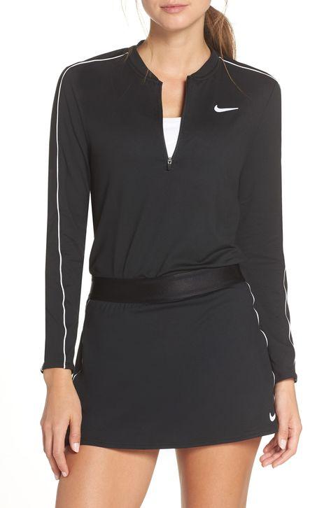 Nike Court Dri Fit Quarter Zip Top Active Wear For Women Fashion Tennis Tops