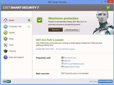 How much does it cost to license Eset Smart Security?