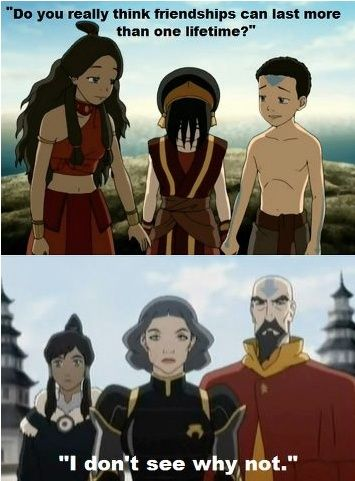 Does anyone else wanna cry at the thought that Aang is the only one out of this picture that has passed... Yeah my heart just broke.