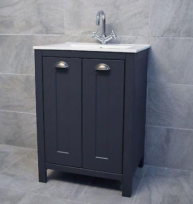 Bathroom Storage Vanity Sink Basin, Dark Grey Bathroom Vanity Unit