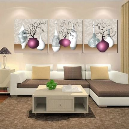 49 Trendy Living Room Art Work Beautiful Canvas Wall Decor Living Room Living Room Canvas Flower Wall Painting Purple wall decor living room