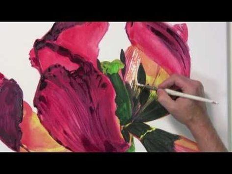 Drawing Tulips Watercolor 03 Youtube Aquarell Blumen Malen