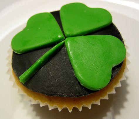 St. Patrick's Day shamrock cupcake