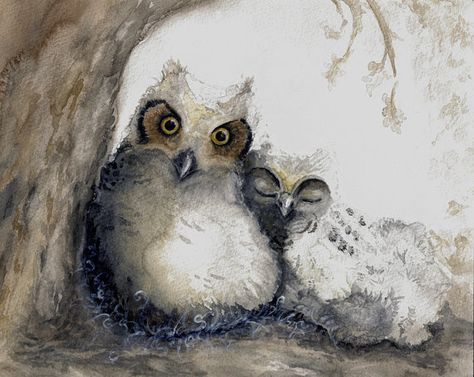Owl Print from Watercolor Painting by CynthiaCranesArt on Etsy, $20.00