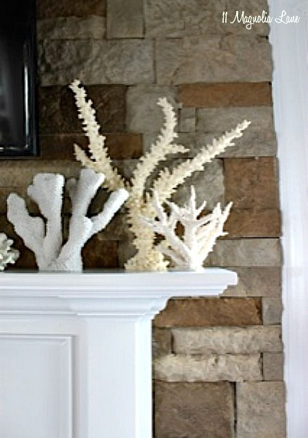 Adding a stone accent wall around your fireplace is an easy way to go from basic to a showstopper, full tutorial in post.