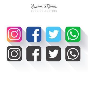 Freepik Recursos Graficos Para Todos Icones Redes Sociais Redes Sociais Ideias Para Logotipos