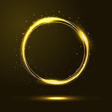 Vetor De Quadro De Luz De Circulos De Ouro Com Particulas De Brilho Ouro Brilhar Leve Imagem Png E Vetor Para Download Gratuito Picture Frame Designs Gold Circle Frames Circle Light