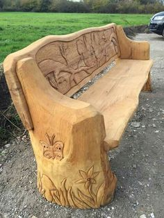 Picture Score For The Power Carving Wooden Couch Wooden Couch Carved Bench Rustic Log Furniture