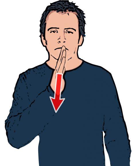 Sad - British Sign Language (BSL)