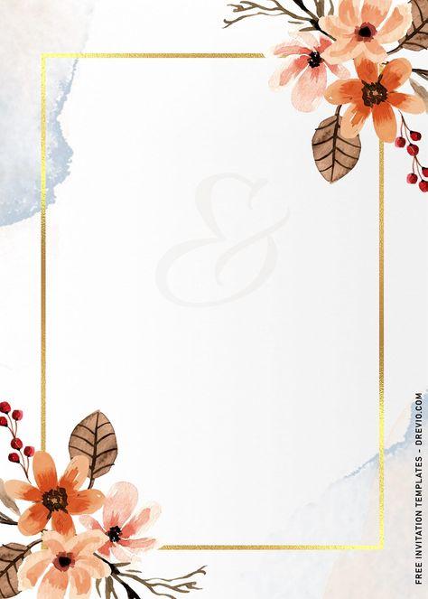 11+ Vintage Hand Drawn Floral Birthday Invitation Templates
