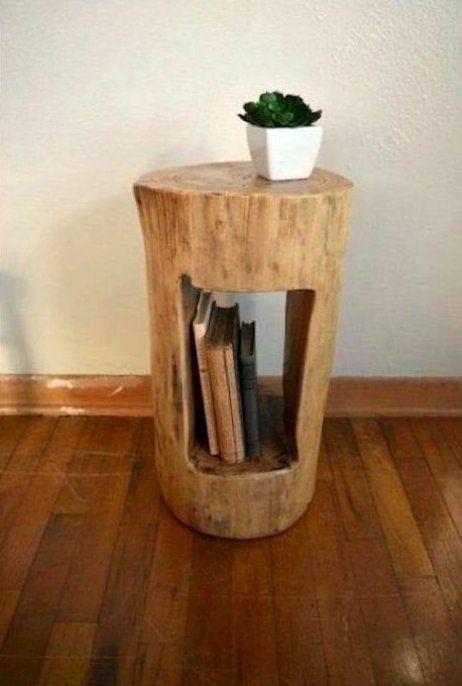 Meubles En Bois Bricolage Originaux Et Simples Fabriques A Partir De Troncs D Arbres De Nouvelles En 2020 Tronc D Arbre Bricolages En Bois Meuble A Fabriquer Soi Meme