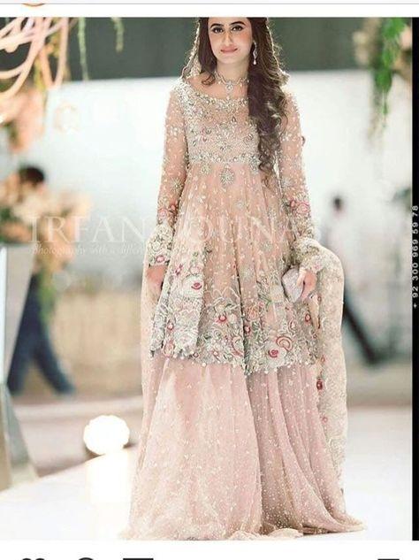 Pakistani Bridal outfit, lehenga, pakistani/indian/bengali wedding dress, gharara