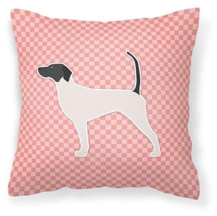 English Pointer Checkerboard Pink Fabric Decorative Pillow Walmart Com Throw Pillows Pillows Outdoor Throw Pillows
