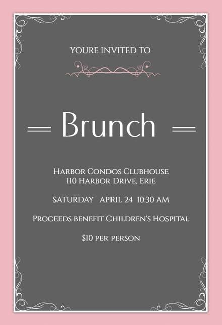 Free Brunch Lunch Party Invitation Templates Greetings Island Brunch Brunchinvitations Lunc Brunch Invitations Party Invite Template Invitation Template