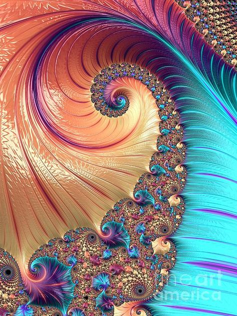 Bejeweled - original fractal artwork by Heidi SmithNOTE - Fine Art America watermark WILL NOT appear on purchased image.