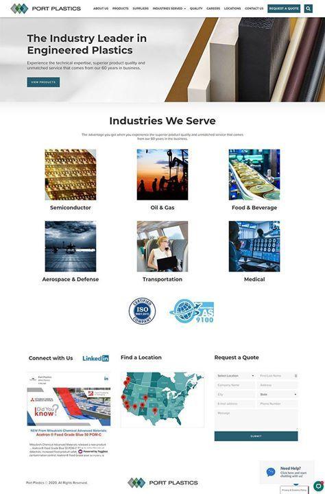 New Website For Nationwide Plastics Distribution Company Port Plastics Https Buff Ly 3hmzb1a Port Plas In 2020 Web Design Content Management System Website Design