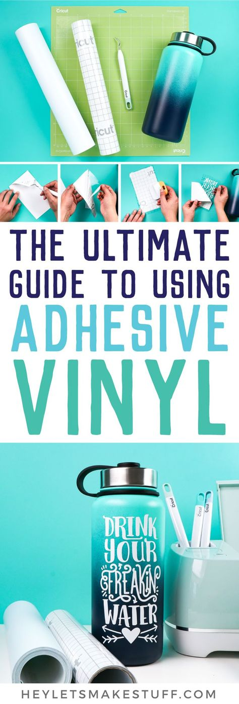 Get step by step instructions on how to use adhesive vinyl to make a personalized water bottle! Learn tips and tricks for cutting and weeding your adhesive vinyl, as well as adhering it using transfer tape.