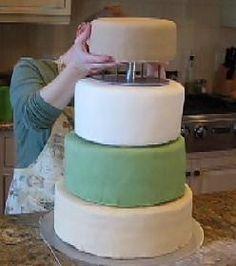 How To Make A Wedding Cake Bake Stacking