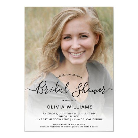 bridal shower invitations designed especially for you by your very own designer! Personalized Photo Bridal Shower Invitation Zazzle Com Photo Bridal Shower Invitations Bridal Shower Invitations Simple Bridal Shower