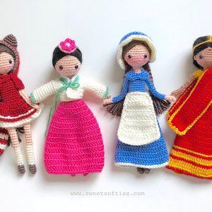 Baby Bean Doll (Free Amigurumi Crochet Pattern, Human Body Doll ... | 300x300