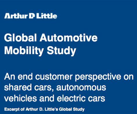 Arthur D. Little sieht die Branche im Umbruch. Studie zu den drei Megatrends in der Automobilität. - Blogomotive