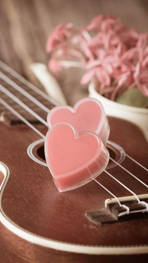 Valentine's Day, heart, guitar, romantic, flowers, love