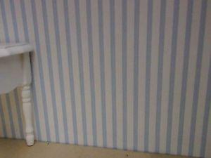 30x53cm estrecho rayas papel pintado Azul claro-blanco ideal para muñecas Tube arco
